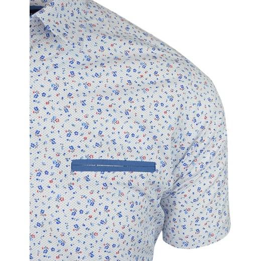 80% ZNIŻKI Koszula męska w abstrakcyjnym wzorze letnia  rfRrP