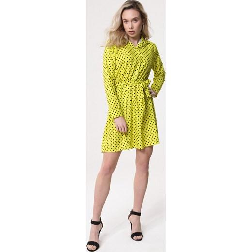 eb8fd9501a Sukienka Born2be z długim rękawem mini casual dla puszystych na co ...