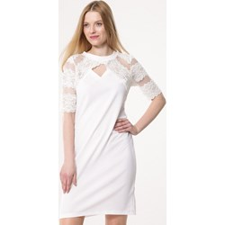 ea69a1ba85 Biała sukienka Born2be koronkowa