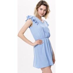 81f75c4695 Sukienka Born2be niebieska mini na wesele casual