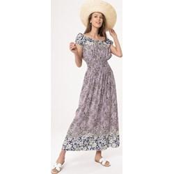 f2daa1a425 Sukienka wielokolorowa Born2be casual z krótkimi rękawami