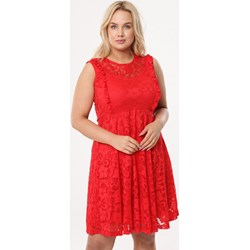 13fd266257 Sukienka Born2be prosta mini z okrągłym dekoltem