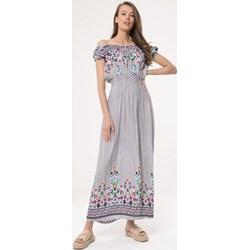 3e48e5c457 Sukienka Born2be w kwiaty maxi