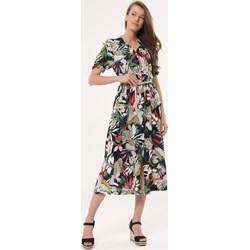 7204ab5804 Sukienka Born2be z krótkim rękawem maxi