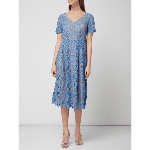 63bc7dc0f5 Sukienka niebieska Set midi na co dzień na wiosnę w Domodi