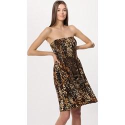 9c4eaa6cd3 Sukienka Born2be prosta brązowa mini