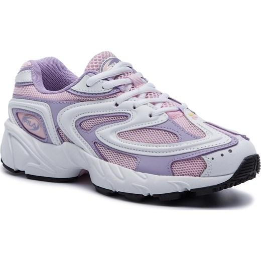 Buty sportowe damskie Fila dla biegaczy gładkie sznurowane