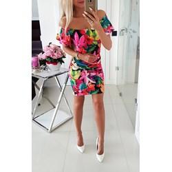 4e2daca76d Sukienka Iwette Fashion z dekoltem typu hiszpanka na spacer casualowa