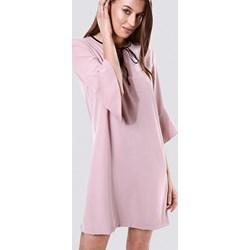 69f0717348 Sukienka Born2be z długimi rękawami z żabotem bez wzorów z tkaniny klasyczna
