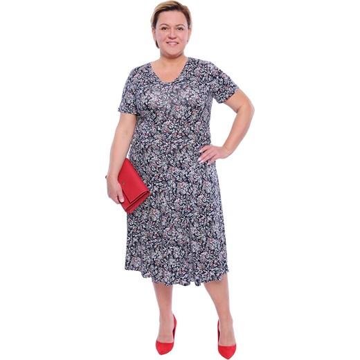 a2e7700239f Sukienka na spacer z krótkimi rękawami midi dla puszystych w Domodi