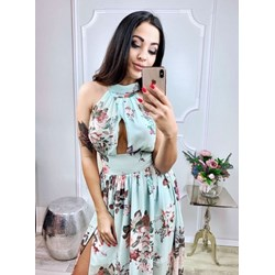 69787a841d Sukienka Pakuten z dekoltem halter bez rękawów maxi