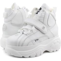 0d0c2a2f85881 Sneakersy damskie Buffalo na platformie skórzane na wiosnę sznurowane