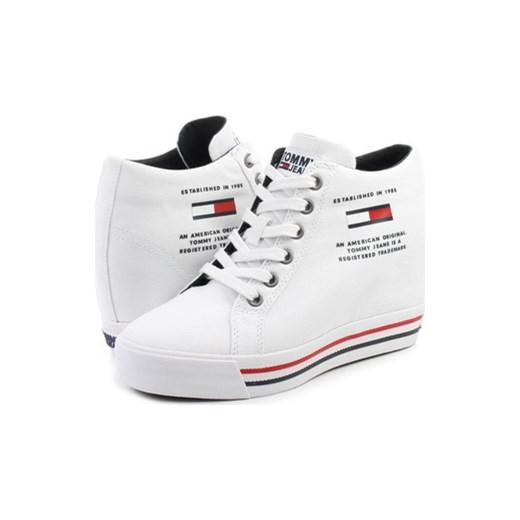 8867b81010200 Sneakersy damskie Tommy Hilfiger sznurowane białe w Domodi