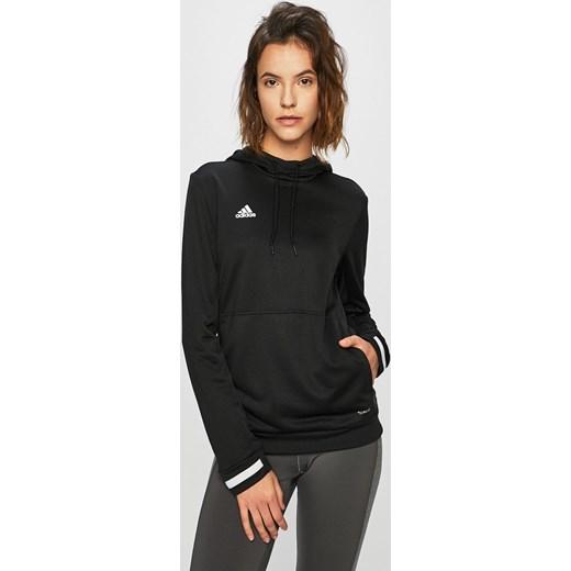 wiele modnych szczegółowy wygląd delikatne kolory Bluza damska czarna Adidas Performance jesienna młodzieżowa krótka