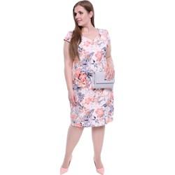 19e8bc6128 Modne Duże Rozmiary. Sukienka wiosenna ołówkowa midi