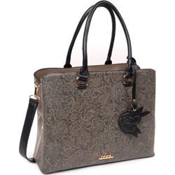 c8dd85cd407ee Shopper bag Doca brązowa duża z breloczkiem