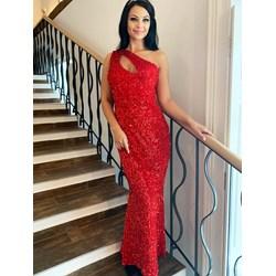 c5f87088b5 Sukienka Elegrina bez rękawów na bal