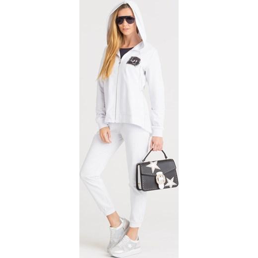 nowy Bluza damska krótka Odzież Damska PY biały Bluzy
