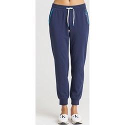 9c0be8d5da1169 Granatowe spodnie damskie o szerokich nogawkach Ea7 Emporio Armani ...