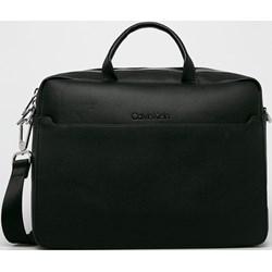 49cf6c68e5 Torba na laptopa Calvin Klein ze skóry ekologicznej