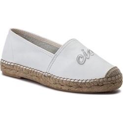 dfa5d87fea189 Espadryle damskie Eva Minge z tkaniny białe casual bez zapięcia bez wzorów  ...