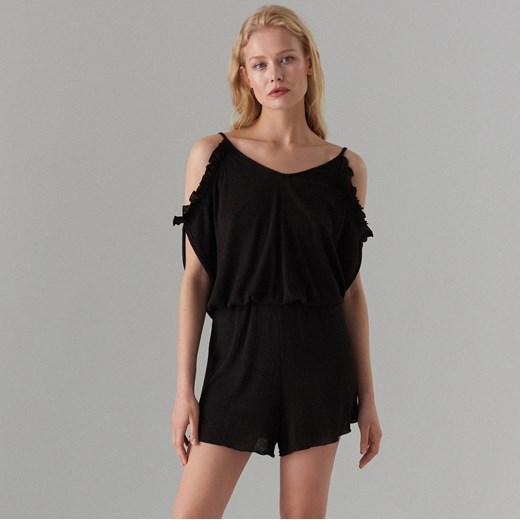 trwałe modelowanie Mohito kombinezon damski Odzież Damska KH czarny Kombinezony damskie YVLY
