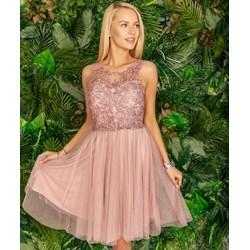c9d92b7027 Sukienka bez rękawów z poliestru elegancka midi