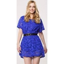 69227124c4 Sukienka Born2be na wiosnę z krótkim rękawem gładka mini