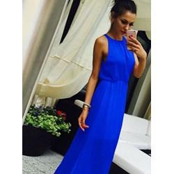 7afd2b3533 Sukienka Pakuten bez wzorów niebieska