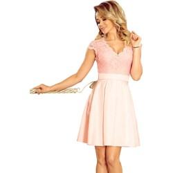 78cf92c6 Sukienka Numoco wiosenna balowe różowa elegancka