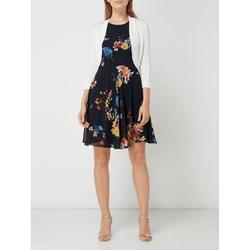 47379be57b Sukienka Esprit granatowa w kwiaty mini na spacer
