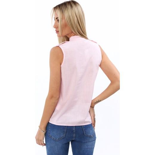80% ZNIŻKI Koszula damska różowa Fasardi bez rękawów Odzież  lbJIa