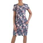 fc2fbb02ed Wiosenna sukienka w kwiaty Sara VII. Fason wyszczuplający. modbis ...