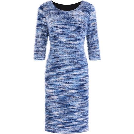 Niebieska sukienka z mechatej dzianiny Bernata, oryginalna
