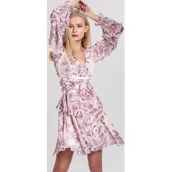 3db9532b78 Sukienka różowa Renee na spacer mini z długimi rękawami