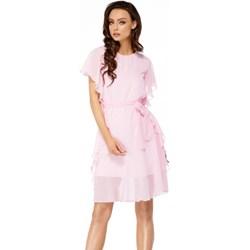 a122fb25 Sukienka Lemoniade z okrągłym dekoltem szyfonowa