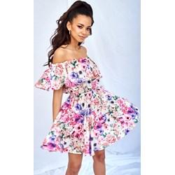 dc3291956e Sukienka Mosquito mini wielokolorowa na spacer w kwiaty casual
