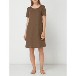 fdd51799c7 Sukienka Gerry Weber wiosenna biznesowa bez wzorów lniana