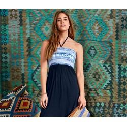 e2cae990b0 Niebieska sukienka Tchibo bez rękawów maxi z dekoltem v
