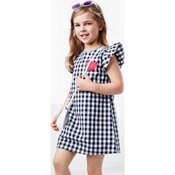 442603702d Sukienka dziewczęca Tchibo szara bawełniana