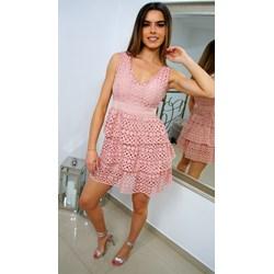 4463b26176 Sukienka z bawełny różowa bez rękawów casual