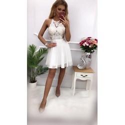 0d23509dc1 Sukienka balowe na lato poliestrowa gorsetowa z okrągłym dekoltem mini