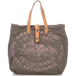 aa4202eed44f3 Shopper bag Campomaggi bez dodatków na ramię bawełniana