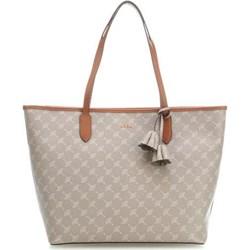 548b9a35c4 Beżowa shopper bag Joop! ze skóry mieszcząca a8 na ramię
