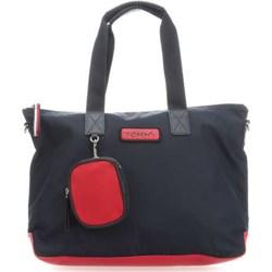a2b0d383479c6 Shopper bag Tommy Hilfiger z breloczkiem matowa duża