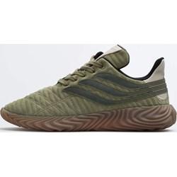 c52ec2b3bd5e0 Buty sportowe męskie Adidas wiązane zielone