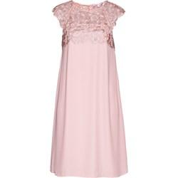 f3042126fe Sukienka różowa Bpc Selection Premium bez rękawów prosta na urodziny z  okrągłym dekoltem