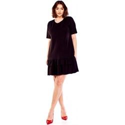 8878b4e3f9 Sukienka Bomo Moda bez wzorów z krótkimi rękawami dla puszystych