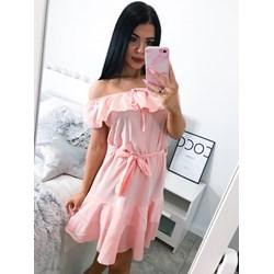 b871f6801b2b55 Różowa sukienka Magmac mini gładka na wesele casual