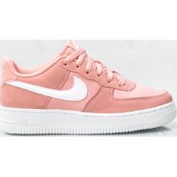 bcb4b9ddb Buty sportowe damskie Nike do biegania air force bez wzorów sznurowane  płaskie
